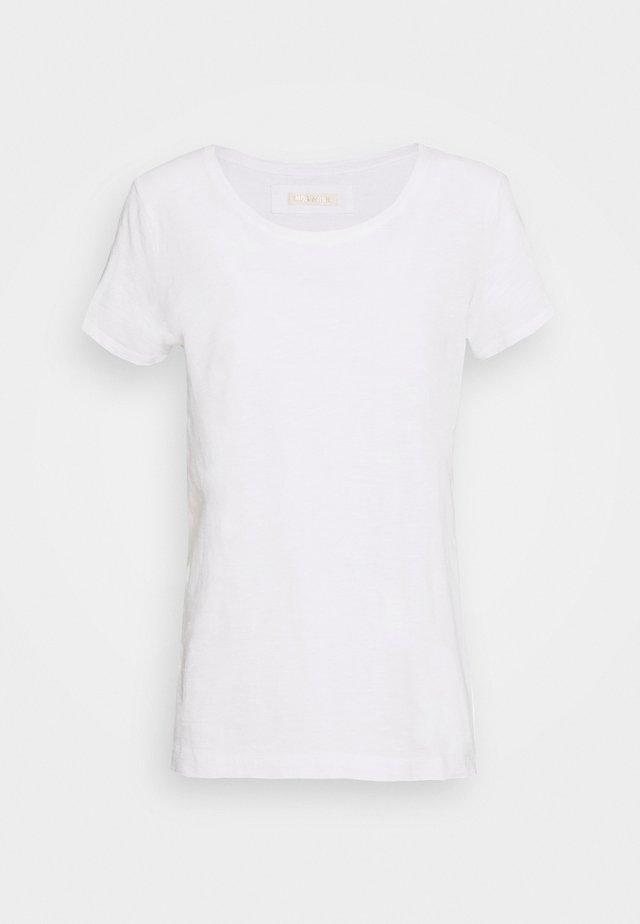 ARDEN O NECK TEE - T-shirts basic - ecru