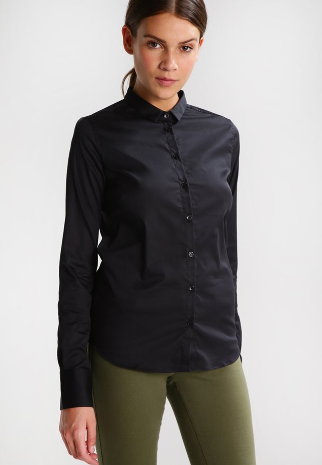 TILDA - Button-down blouse - black