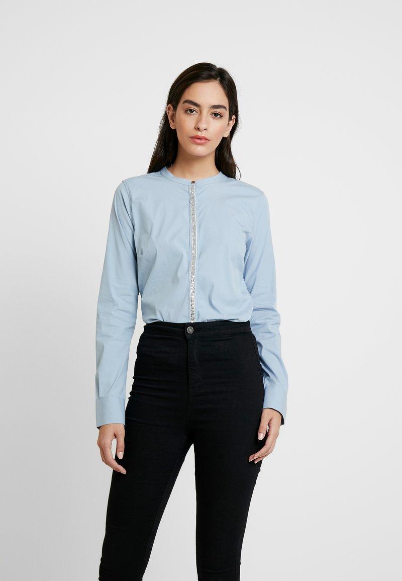 Mos Mosh - Damen Maggie - Button-down blouse - light blue