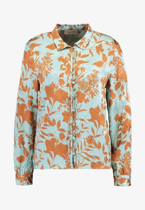 NURA STENCIL - Button-down blouse - mint haze
