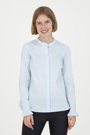 MATTIE  - Button-down blouse - light blue check