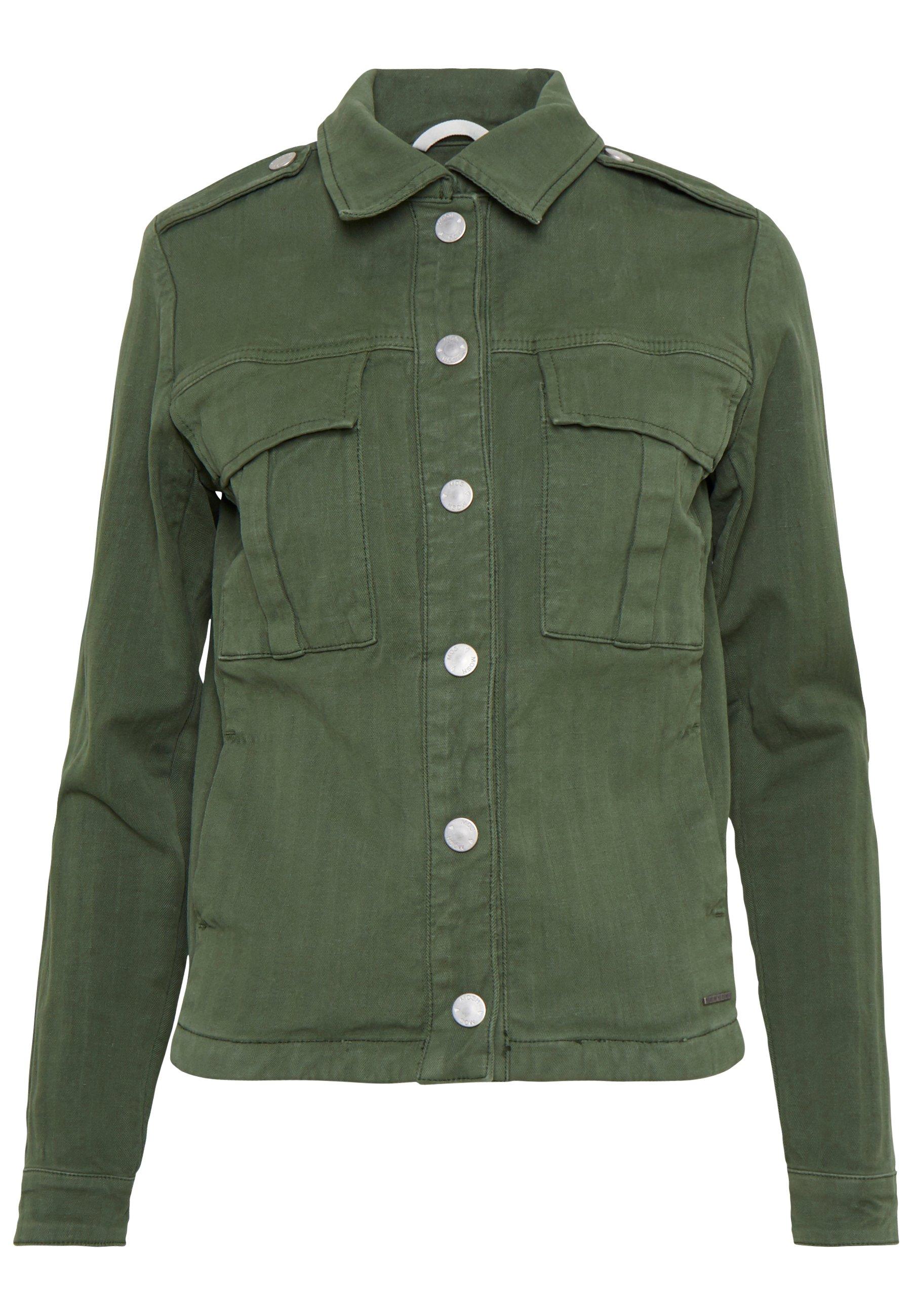 Mos Mosh Blair Herringbone Jacket - Summer Union Green