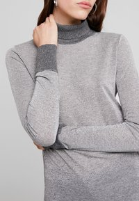 Mos Mosh - CASIO ROLL NECK - Sweter - grey melange - 5