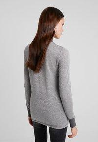 Mos Mosh - CASIO ROLL NECK - Sweter - grey melange - 2