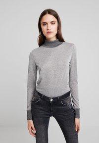Mos Mosh - CASIO ROLL NECK - Sweter - grey melange - 0