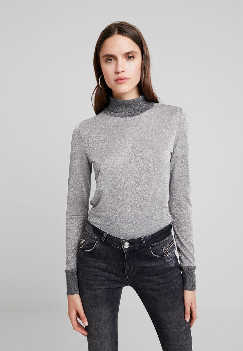 Mos Mosh - CASIO ROLL NECK - Sweter - grey melange