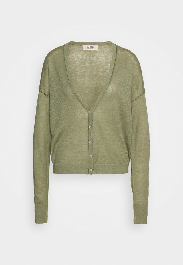 LARK CARDIGAN - Gilet - oil green