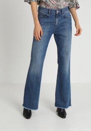 PERCY FRILL - Flared jeans - blue denim