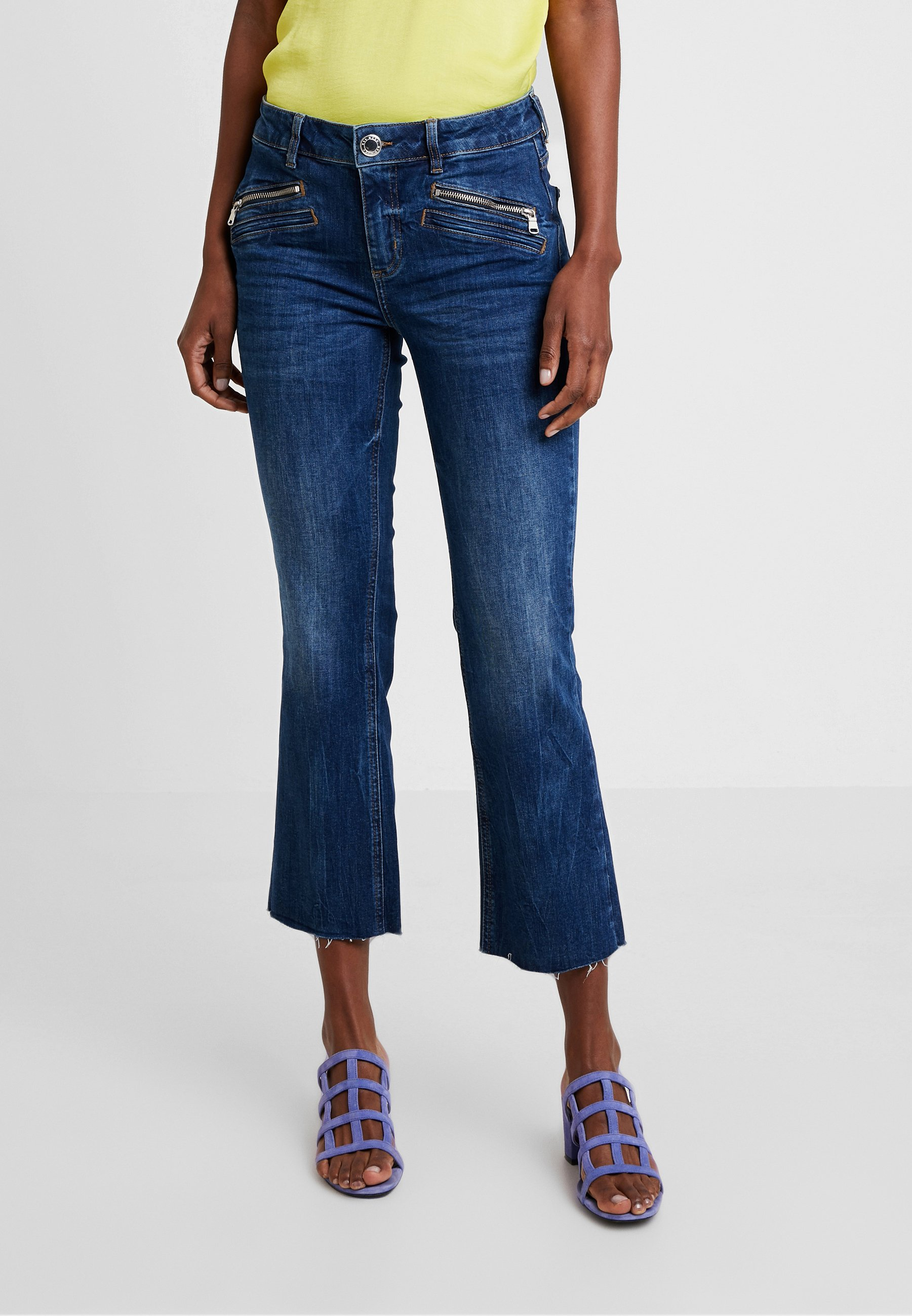 Mos Mosh SIMONE ZIP - Jeans bootcut blue denim