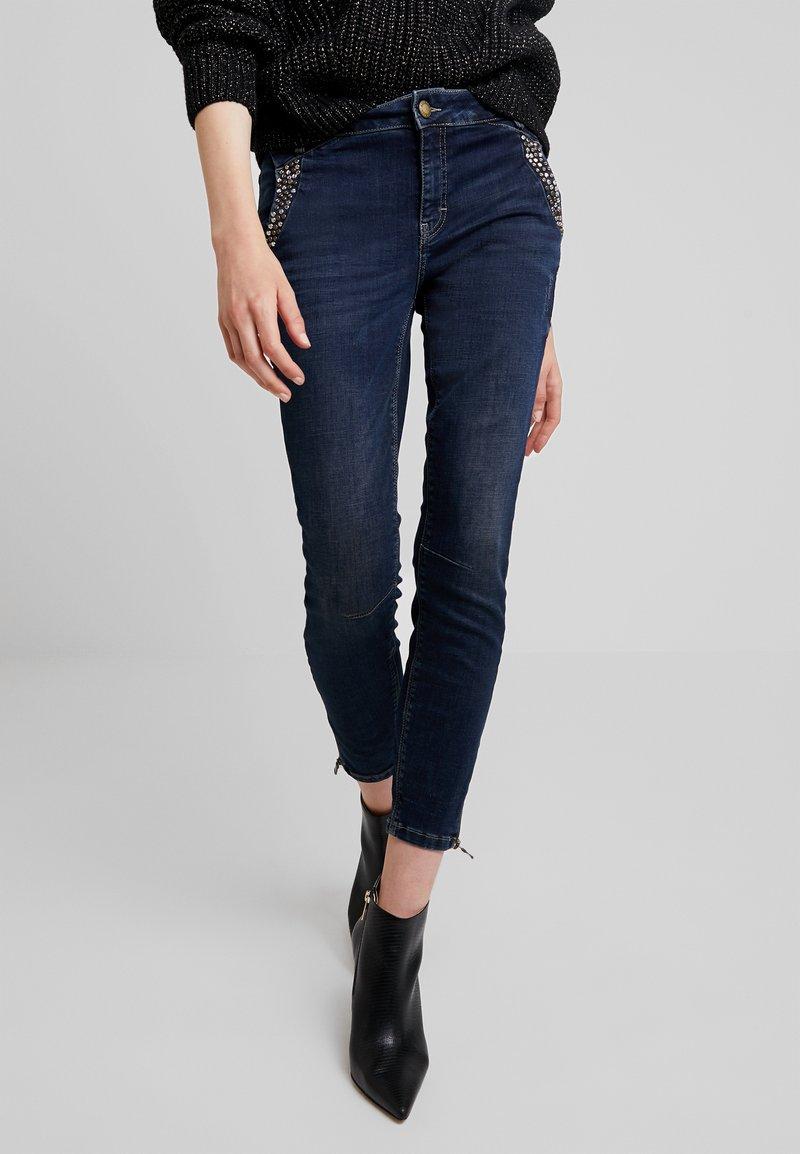 Mos Mosh - ETTA TROK - Slim fit jeans - dark blue denim