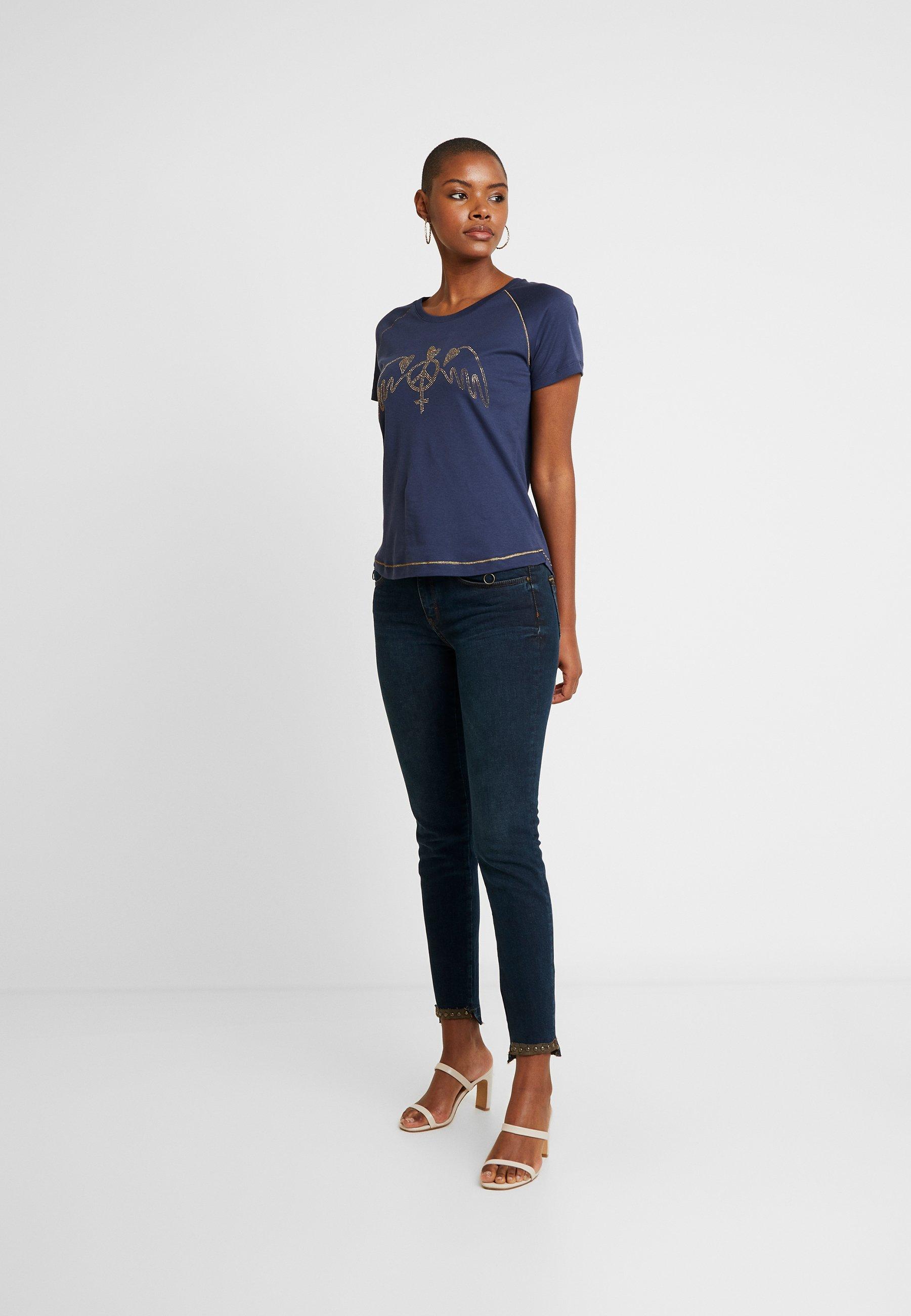 Mos Mosh SUMNER TROK RUST - Jeansy Skinny Fit - blue