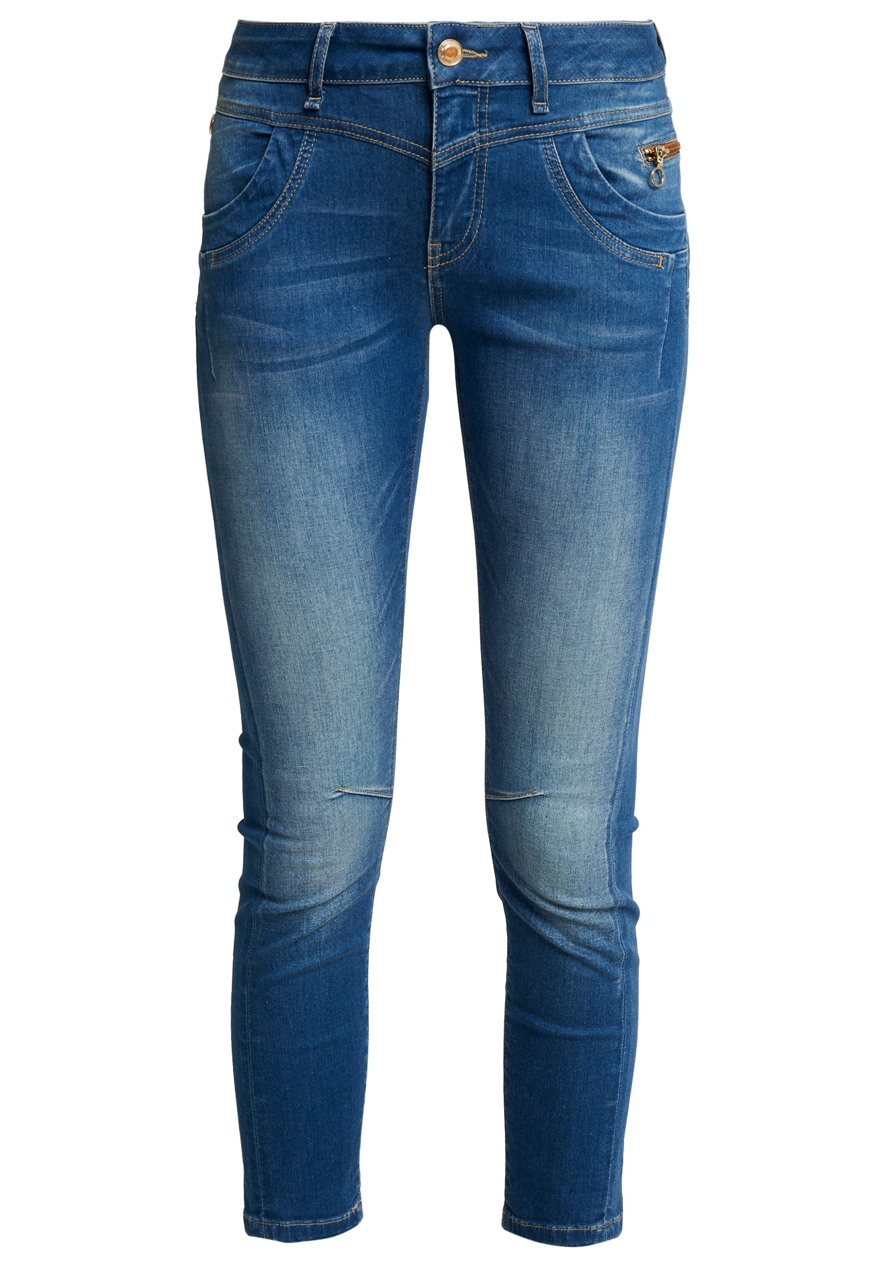 Mos Mosh SHARON SPLIT - Jeansy Slim Fit - dark blue