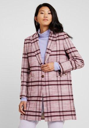 CHRISTIE MADDI CHECK COAT - Short coat - wild plum