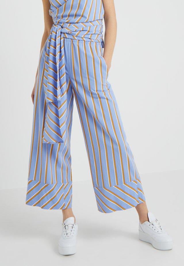 HALLAH - Trousers - blue