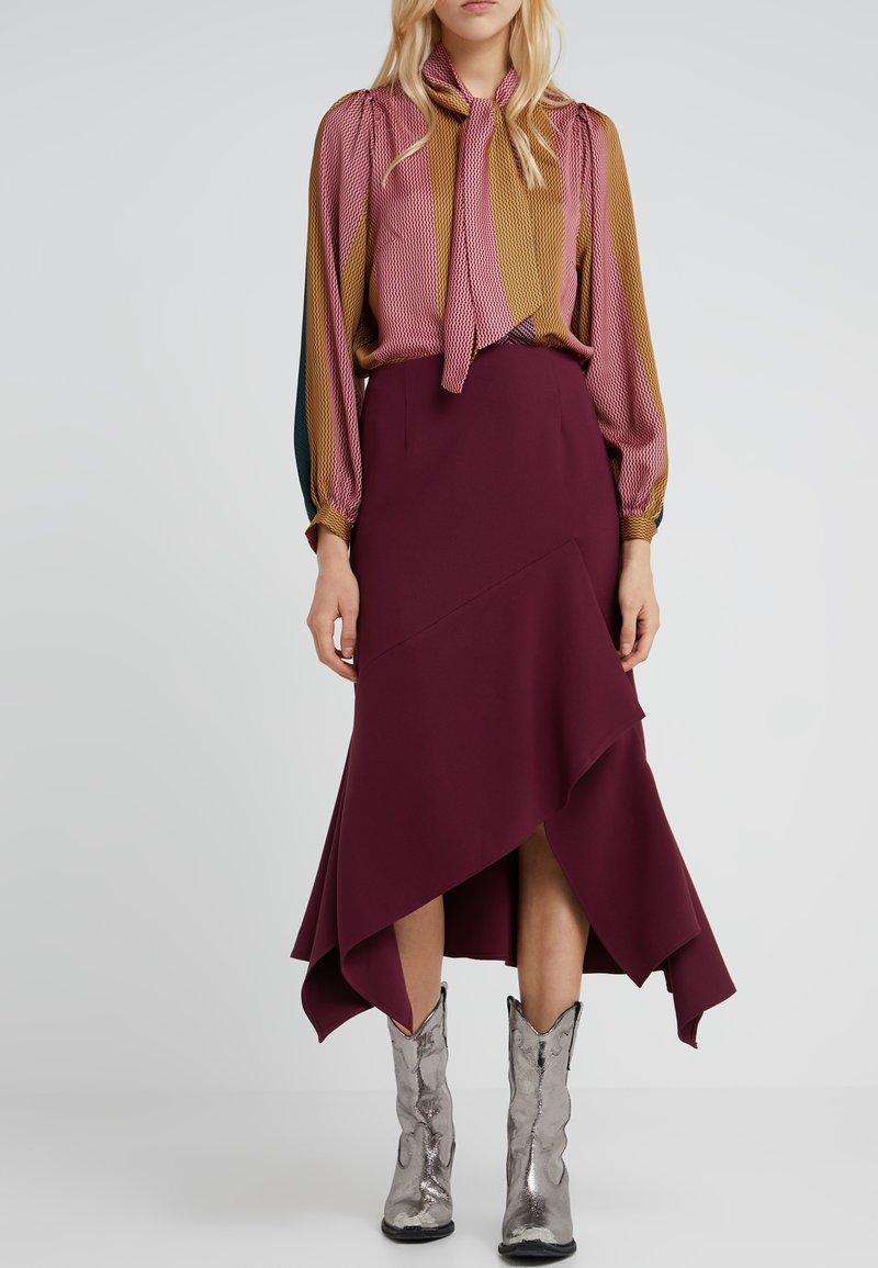 Mykke Hofmann - RARA - A-line skirt - dark red