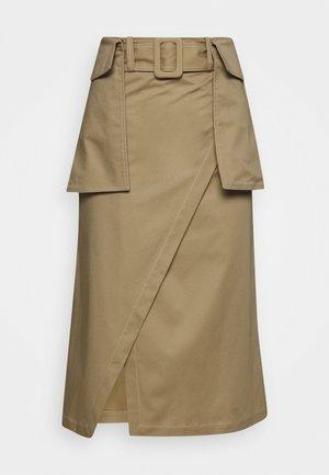 RAESA CTHICK - A-line skirt - beige