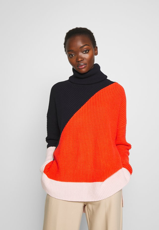 PIERA - Strickpullover - multi-coloured/red/dark blue
