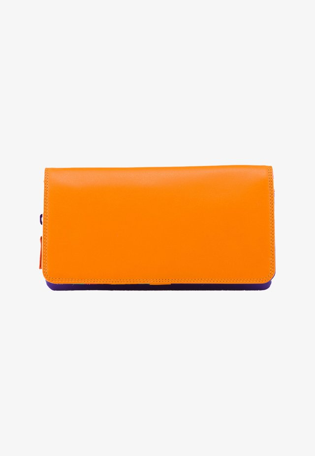 ZIPPED COIN SECTION - Portefeuille - orange/purple