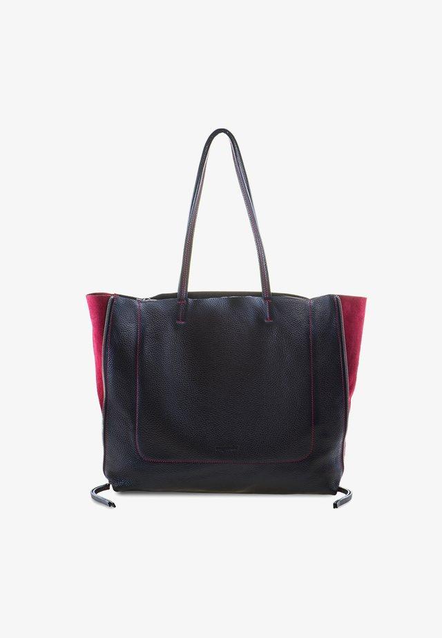 RHODES - Tote bag - black/chianti