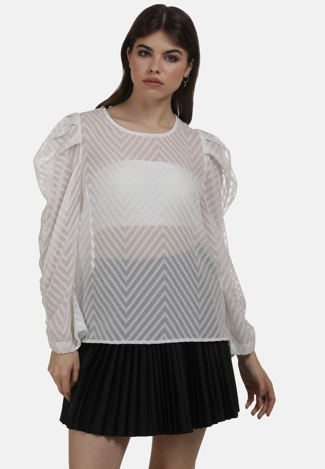 Blouse - wollweiss