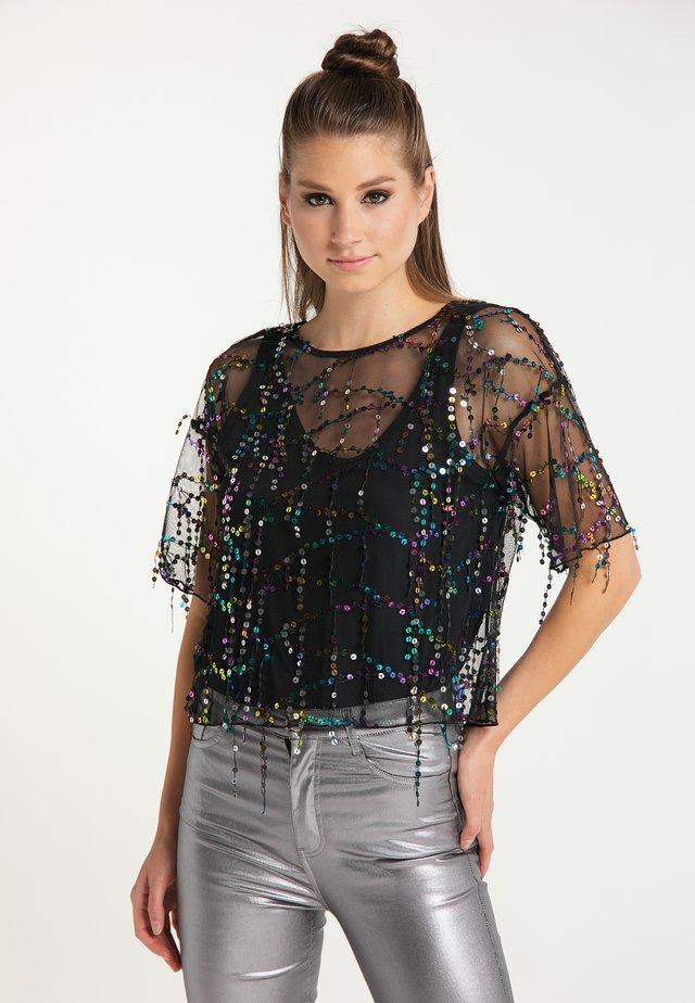T-Shirt print - schwarz multicolor