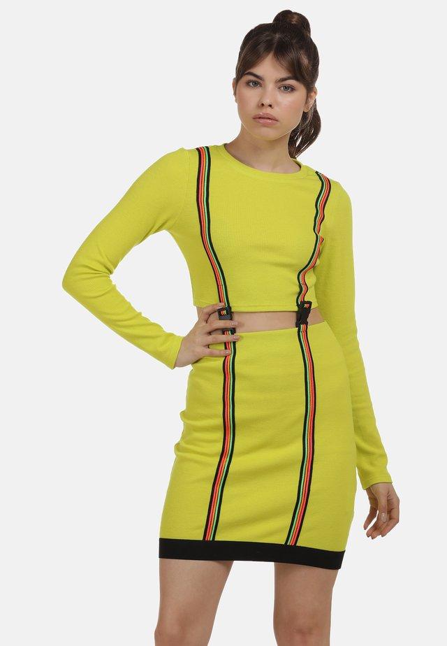 Sukienka letnia - neon gelb