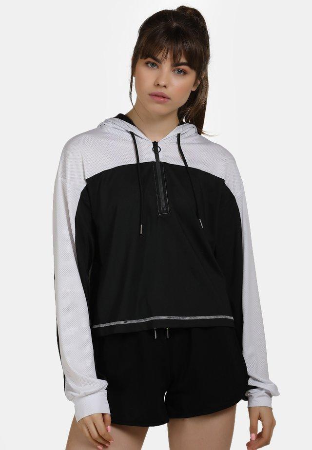 Hoodie - blanc noir