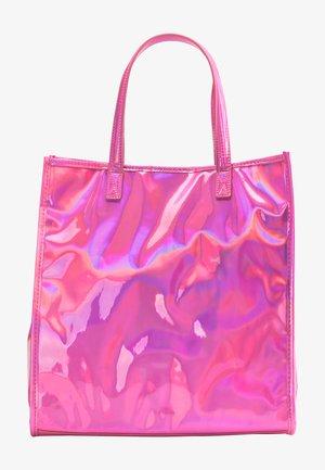 Shopping bag - pink holo
