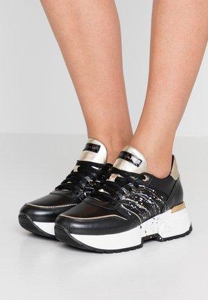 LOREN  - Sneakers laag - nero/oro/pollock