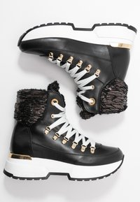 Noclaim - MOON - Lace-up ankle boots - nero - 3