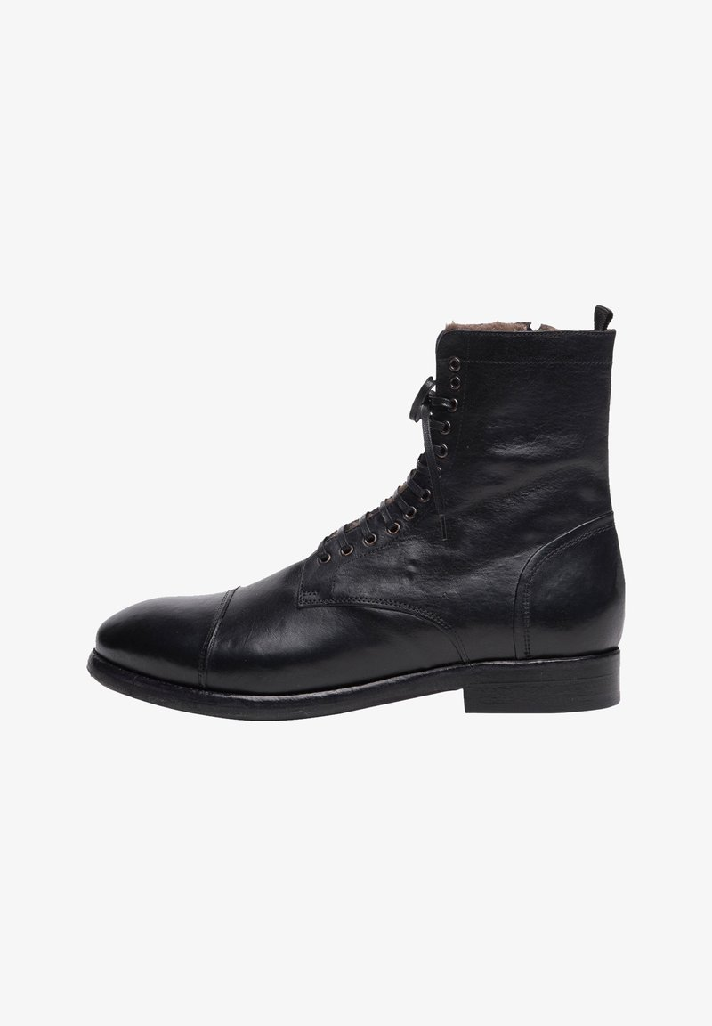 Noclaim - Botines con cordones - black