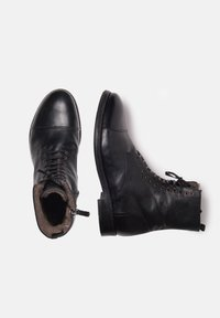 Noclaim - Botines con cordones - black - 1