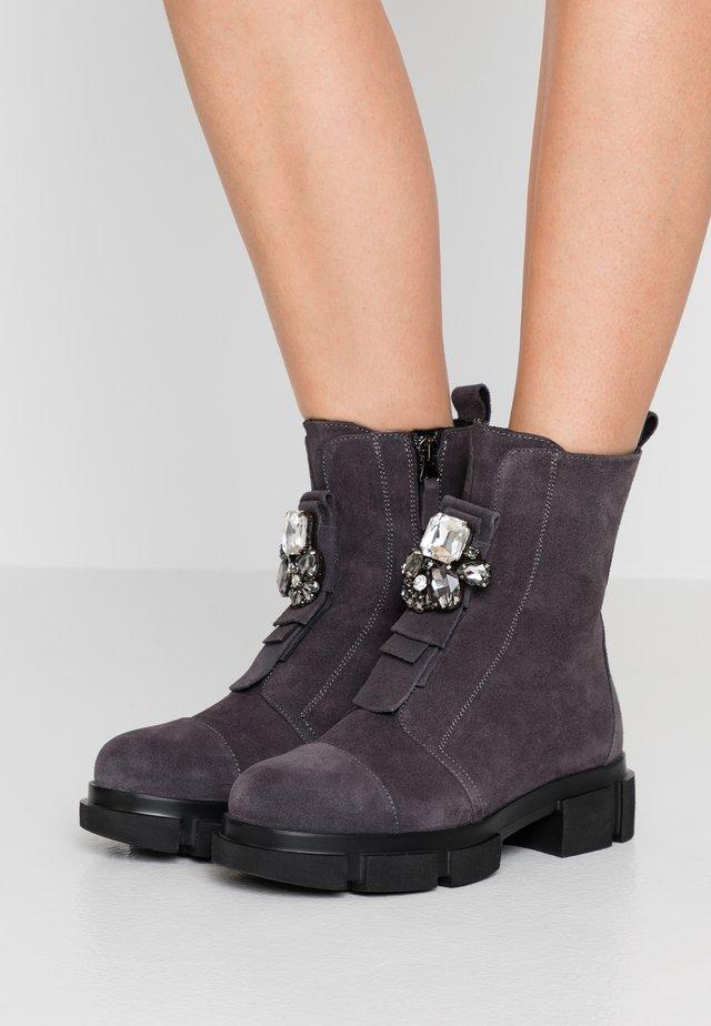 ELENA - Platform ankle boots - grigio
