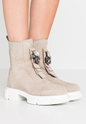 ELENA - Platform ankle boots - moon