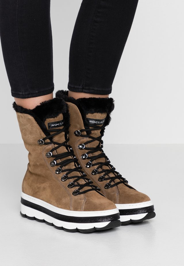 DEASY - Platform ankle boots - visone