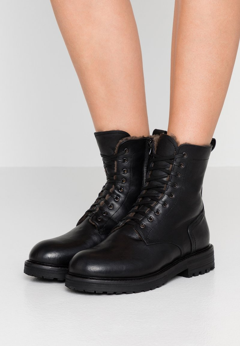 Noclaim - Lace-up ankle boots - nero