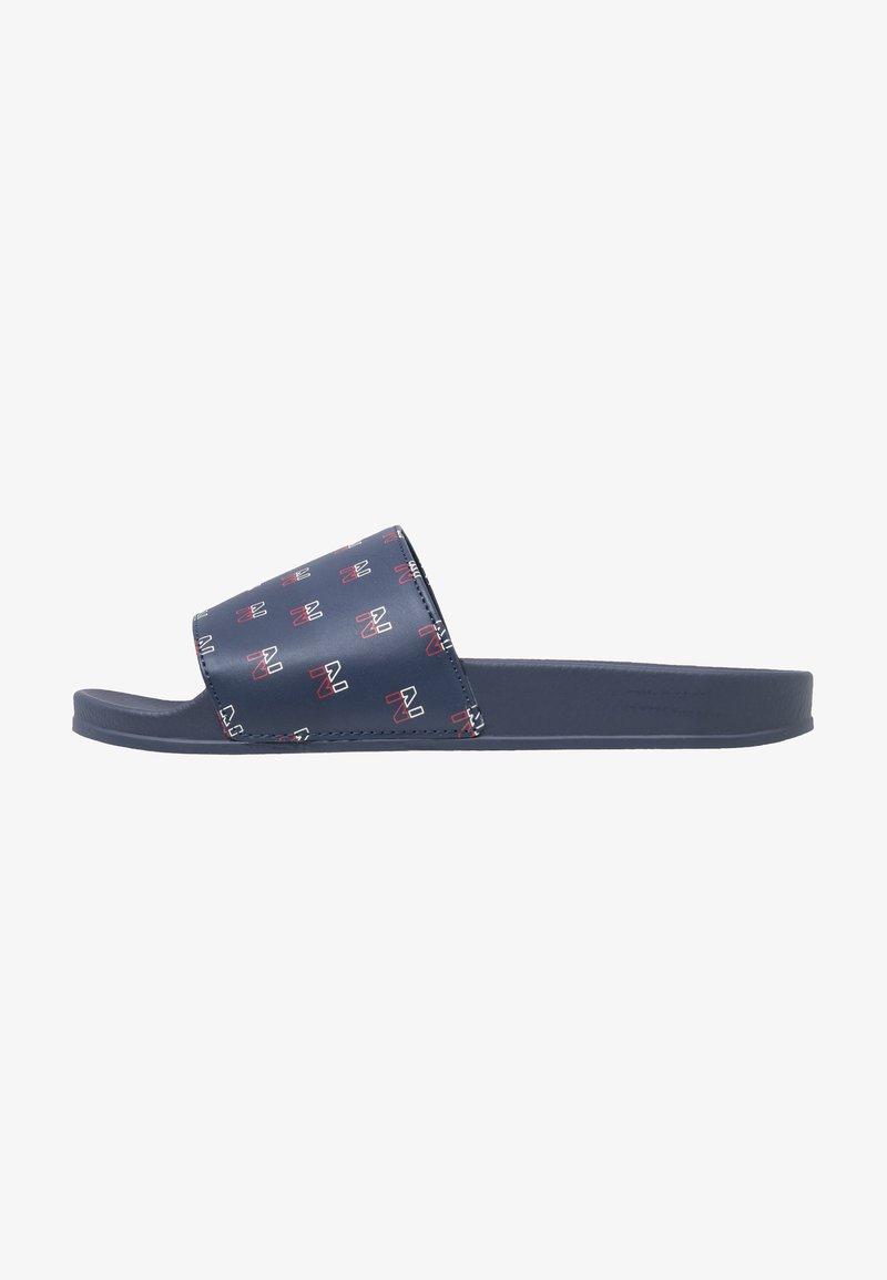 Nicce - SPORT - Pantolette flach - navy/red