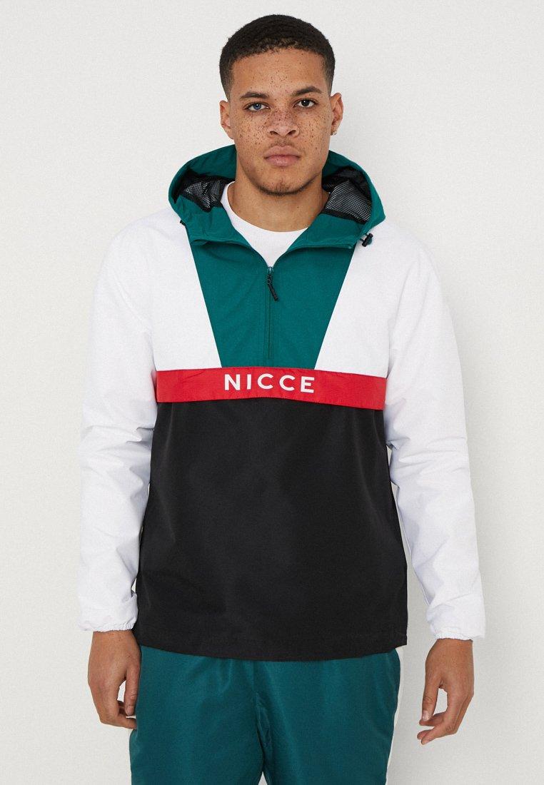 Nicce - SOMMET KAGOULE - Windbreaker - white/black/emerald/red