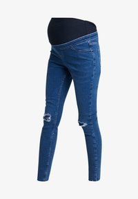 New Look Maternity - OB HARPER MID KNEE - Jeans Skinny - mid blue