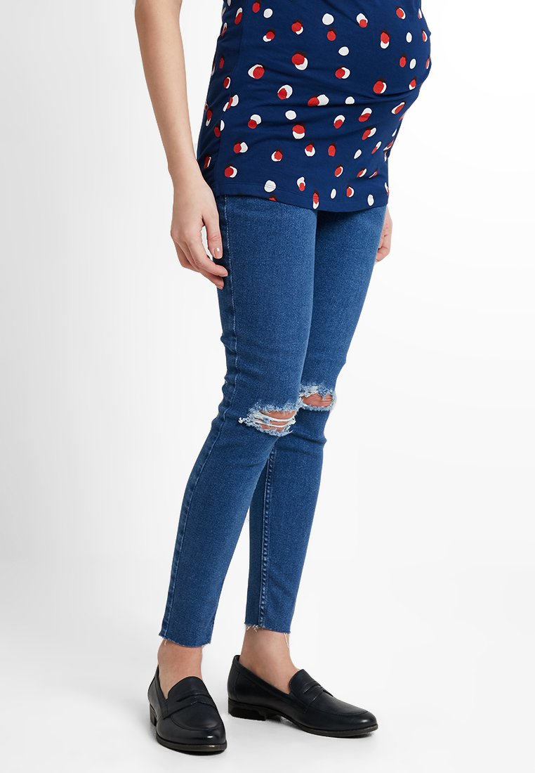 New Look Maternity - OB HARPER MID KNEE - Jeans Skinny Fit - mid blue