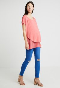 New Look Maternity - KNEE NEW WASH - Jeans Skinny Fit - blue - 1