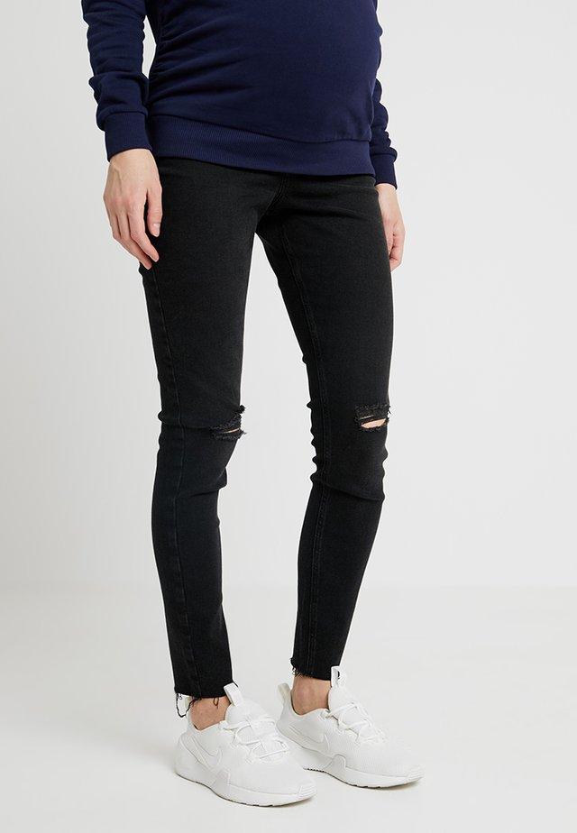 MATERNITY VENICE BLACK KNEE - Jeans Skinny Fit - black