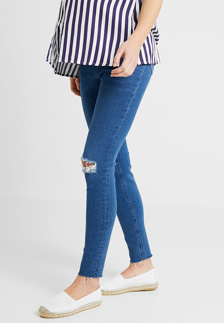 New Look Maternity - HARPER KNEE - Jeans Skinny - mid blue