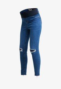 New Look Maternity - HARPER KNEE - Jeans Skinny - mid blue - 4
