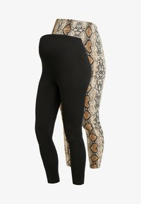 New Look Maternity - PRINTED 2 PACK - Legging - multi-coloured