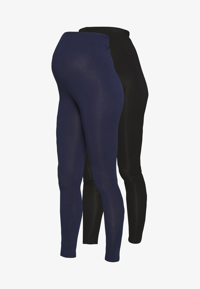 2 PACK - Leggingsit - black/navy