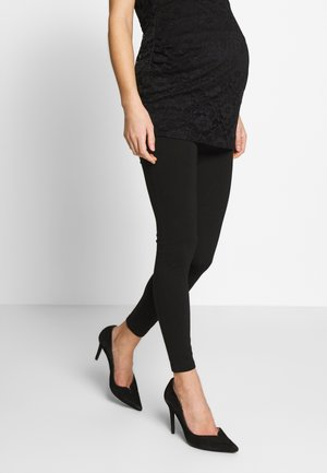 ZIP - Leggings - Trousers - black