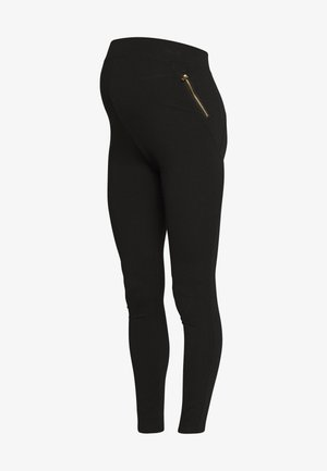 ZIP - Leggings - Trousers - black