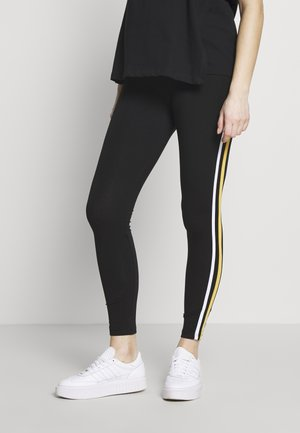 SIDE STRIPE - Legging - black