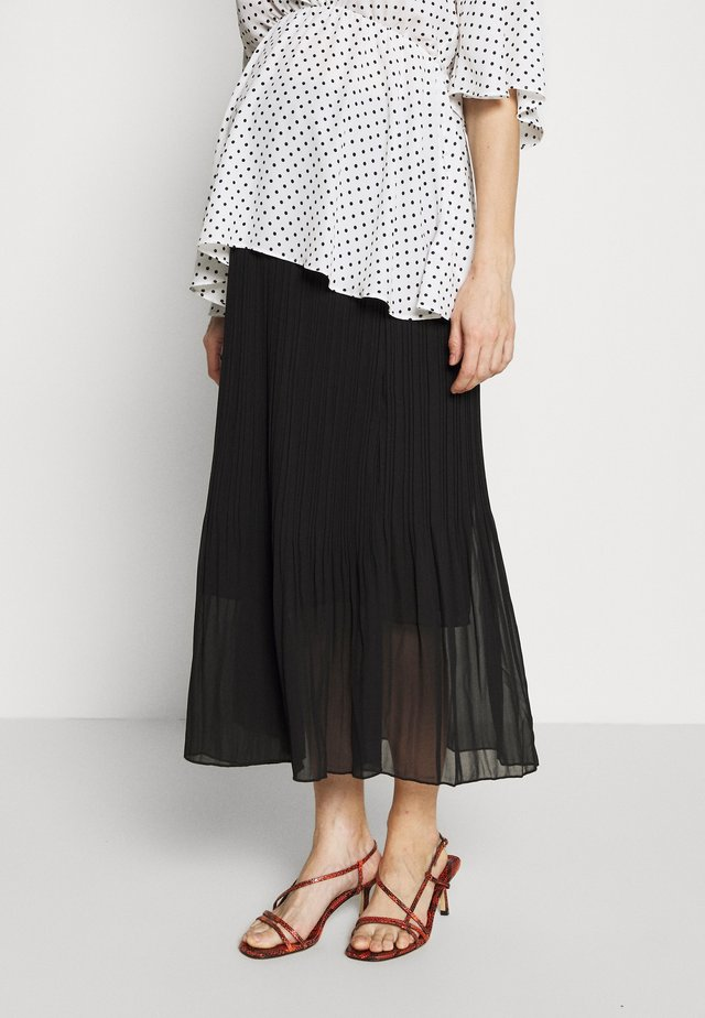 MINI PLEAT MIDI SKIRT - Jupe trapèze - black
